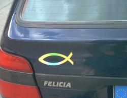 Fisch Aufkleber Hinten Am Auto